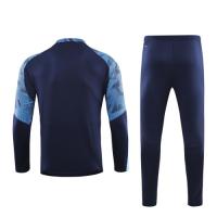 19/20 Marseille Navy Zipper Sweat Shirt Kit(Top+Trouser)