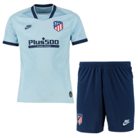 19/20 Atletico Madrid Third Away Blue Soccer Jerseys Kit(Shirt+Short)