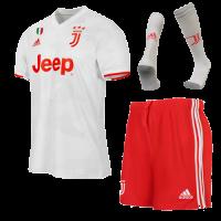 19/20 Juventus Away White Soccer Jerseys Whole Kit(Shirt+Short+Socks)