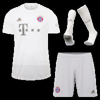 19/20 Bayern Munich Away White Jerseys Whole Kit(Shirt+Short+Socks)