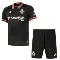 19/20 Chelsea Third Away Black Soccer Jerseys Kit(Shirt+Short)
