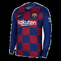 19/20 Barcelona Home Blue&Red Long Sleeve Jerseys Shirt