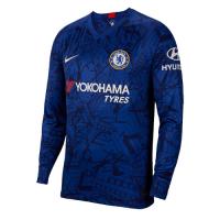 19-20 Chelsea Home Blue Long Sleeve Jerseys Shirt, Men soccer jersey,Fans soccer jersey, Blue jersey,, Nike jersey, Cheap soccer Shirt, 19-20 Premier League Jersey, Replica,