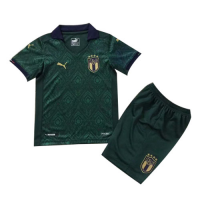 19/20 Italy Third Away Green Children's Jerseys Kit(Shirt+Short)