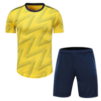 Arsenal Style Customize Team Yellow Soccer Jerseys Kit(Shirt+Short)