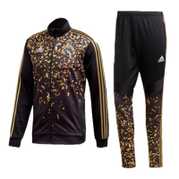 19/20 Real Madrid EA Sports Fourth Black&Golden High Neck Collar Training Kit(Jacket+Trouser)