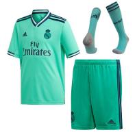 19-20 Real Madrid Third Away Green Soccer Jerseys Whole Kit(Shirt+Short+Socks)