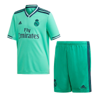 19-20 Real Madrid Third Away Green Soccer Jerseys Kit(Shirt+Short)