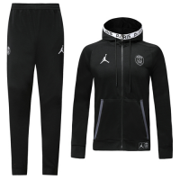 19/20 PSG Black Hoodie Training Kit(Jacket+Trouser)