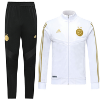 2019 Algeria White High Neck Collar Training Kit(Jacket+Trousers)