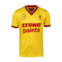 85/86 Liverpool Away Yellow Retro Jerseys Shirt