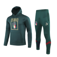 2019 Italy Green Hoodie Training Kit(Top+Trouser)