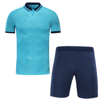 Tottenham Hotspur Style Customize Team Blue Soccer Jerseys Kit(Shirt+Short)