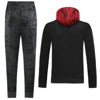 19/20 AC Milan Black Hoodie Training Kit(Jacket+Trouser)
