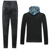 19/20 Manchester City Black Hoodie Training Kit(Jacket+Trouser)