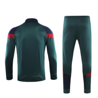 2019 Italy Dark Green Zipper Collar Training Kit(Jacket+Trouser)