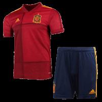 2020 Spain Home Red Soccer Jerseys Kit(Shirt+Short)