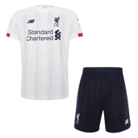 19/20 Liverpool Away White Soccer Jerseys Kit(Shirt+Short)