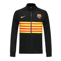19/20 Barcelona Black&Yellow High Neck Collar Training Jacket