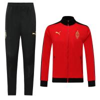 19/20 AC Milan Red High Neck Collar Training Kit(Jacket+Trouser)