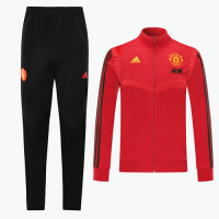 19/20 Manchester United Red High Neck Collar Training Kit(Jacket+Trouser)