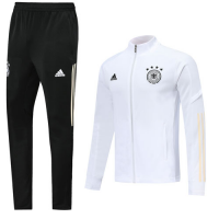 2019 Germany White High Neck Collar Training Kit(Jacket+Trouser)