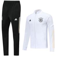 2019 Germany White High Neck Collar Training Kit(Jacket+Trouser)