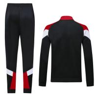 19/20 AC Milan Black&Red&White High Neck Collar Training Kit(Jacket+Trouser)