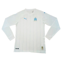 19/20 Marseilles Home White Long Sleeve Jerseys Shirt