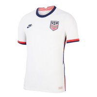 2020 USA Home White Soccer Jerseys Shirt(Player Version)