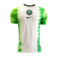 2020 Nigeria Home Green&White Soccer Jerseys Shirt(Player Version)