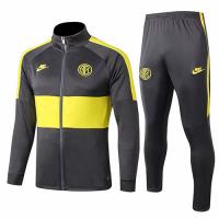 19/20 Inter Milan Dark Gray&Yellow Training Kit(Jacket+Trouser)