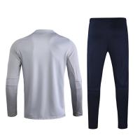 2020 Spain Light Gray Zipper Sweat Shirt Kit(Top+Trouser)
