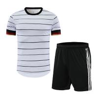 Germany Style Customize Team White Soccer Jerseys Kit(Shirt+Short)