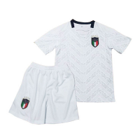 2020 Italy Away White Children's Jerseys Kit(Shirt+Short)