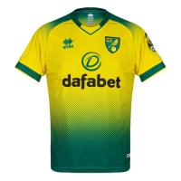 19/20 Norwich City Home Yellow&Green Soccer Jerseys Shirt