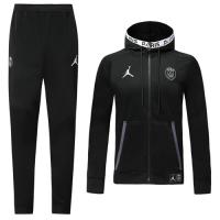 19/20 PSG Black Hoodie Training Kit(Jacket+Trouser)