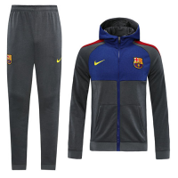 20/21 Barcelona Gray Hoodie Training Kit(Jacket+Trousers)