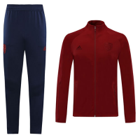 20/21 Arsenal Dark Red High Neck Collar Training Kit(Jacket+Trouser)