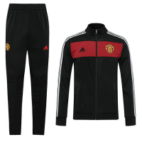 20/21 Manchester United Black Retro High Neck Collar Training Kit(Jacket+Trouser)