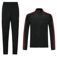 20/21 Manchester United Black High Neck Collar Training Kit(Jacket+Trouser)