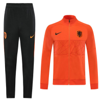 2020 Netherlands Orange High Neck Collar Training Kit(Jacket+Trouser)