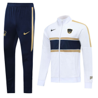 20/21 UNAM Pumas White Player Version Training Kit(Jacket+Trouser)