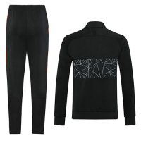 2020 Netherlands Black High Neck Collar Training Kit(Jacket+Trouser)