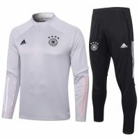 2020 Germany Gray Zipper Sweat Shirt Kit(Top+Trouser)