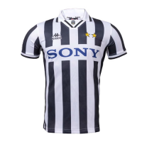 96/97 Juventus Home Black&White Soccer Retro Jerseys Shirt