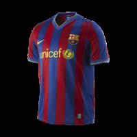 09/10 Barcelona Home Red&Blue Retro Soccer Jerseys Shirt