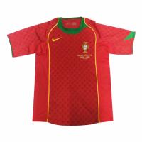 2004 Portugal Home Red Retro Jerseys Shirt