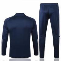 2020 France Navy Zipper Sweat Shirt Kit(Top+Trouser)