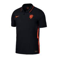 2020 Netherlands Away Black Soccer Jerseys Shirt(Player Version)